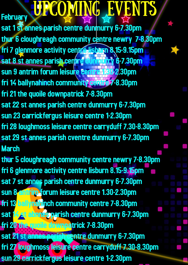 Copy of Glow Roller skating birthday invitation - Made with PosterMyWall (1)