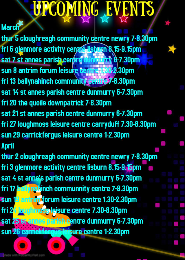 Copy of Glow Roller skating birthday invitation - Made with PosterMyWall (2)