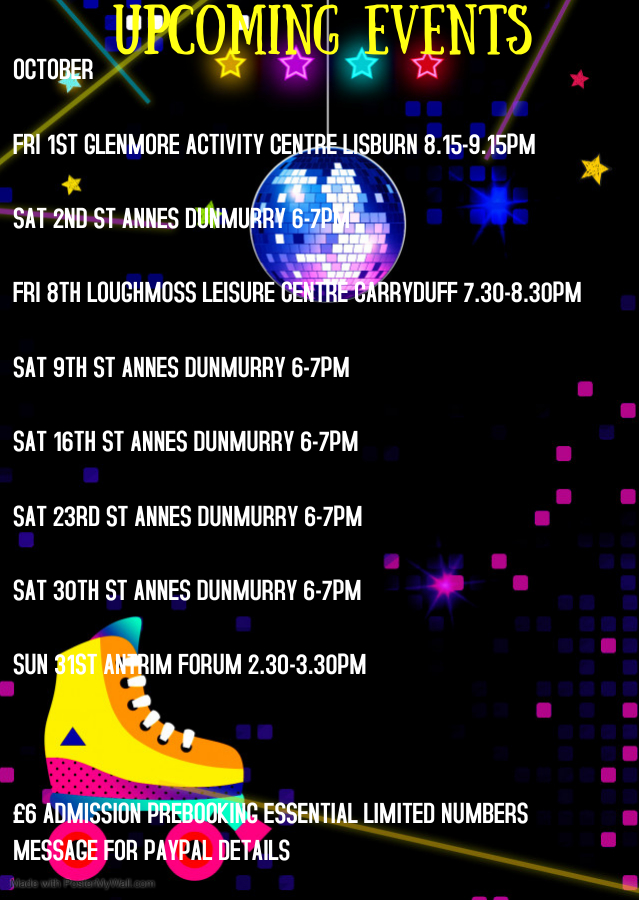 Copy of Glow Roller skating birthday invitation - Made with PosterMyWall (3)